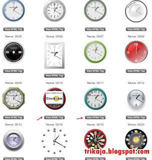 Pasang Jam di Blog