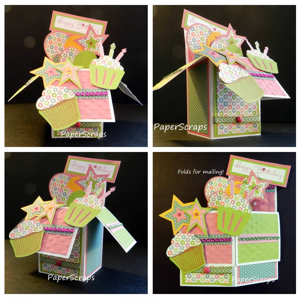 Pattis Close To My Heart PaperScraps Happy Birthday Card in a Box – Box of Birthday Cards