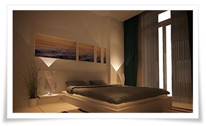 Phòng ngủ chính căn hộ Thuỷ Tiên Resort