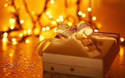 Papel de Parede Presente de Natal Decorado para pc 3d merry christmas gift wallpaper
