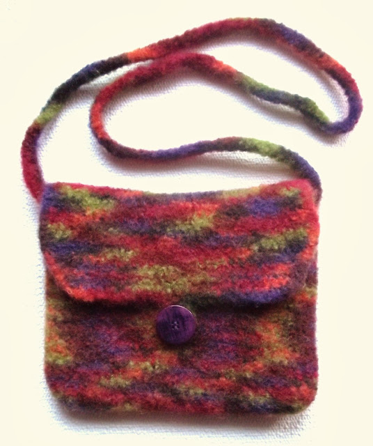 Felted Crochet Bag : Gossamer Tangles: How to Make a Simple Felted Crocheted Purse