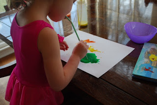 Painting with straws can be a fun and easy craft project for little kids