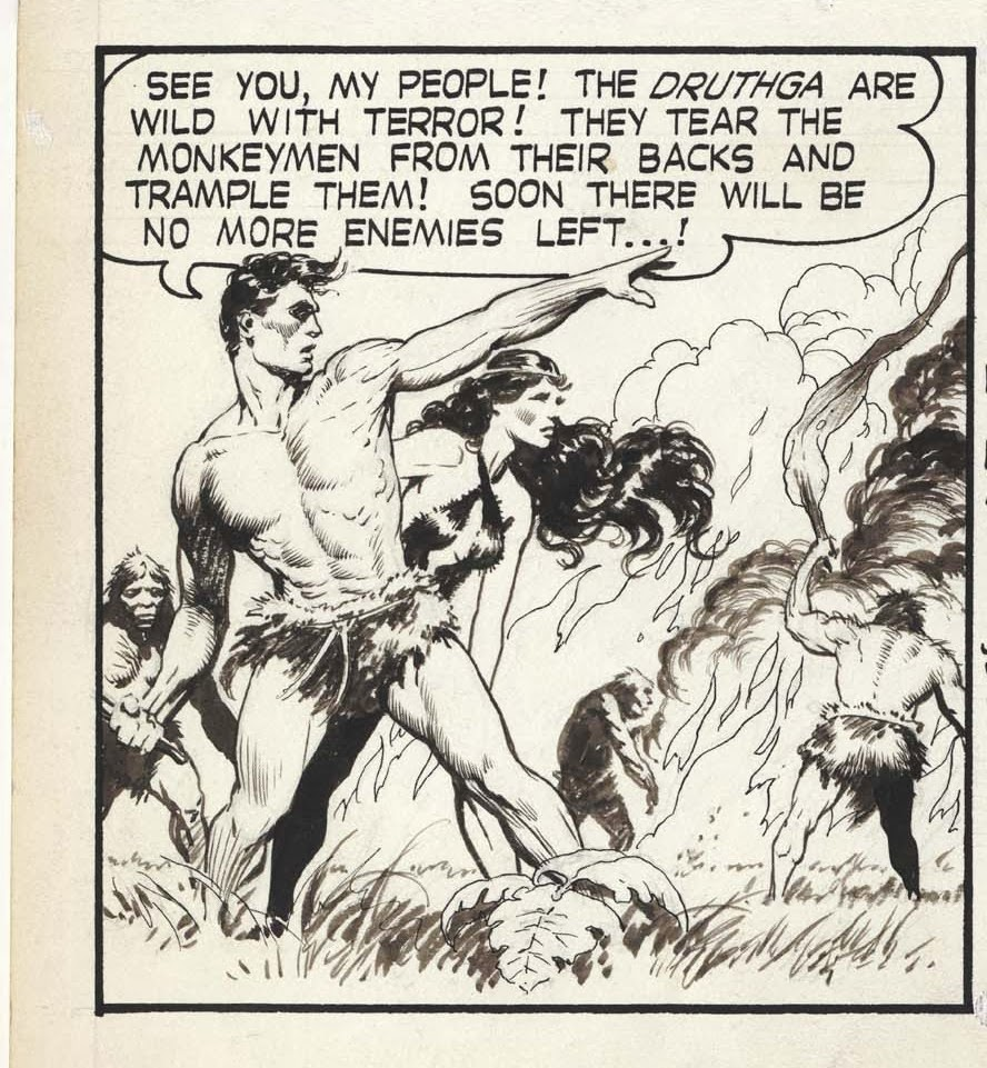 The Great Comic Book Heroes: THUN\'DA by the incomparable FRANK FRAZETTA!