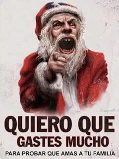 Papá Noel enojado