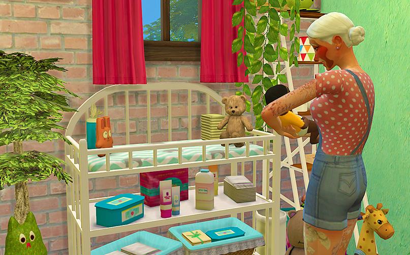 My Sims 4 Blog: TS2 Sanitation Station Baby Changing Table by Dri4na