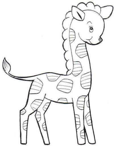 Dibujos y Plantillas para imprimir Dibujos de Jirafas