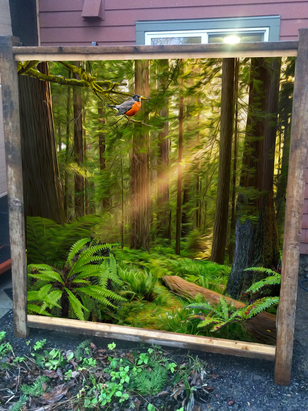 portland oregon muralist, portland forest mural, pacific northwest mural