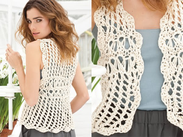 Patrones boleros calados a crochet - Imagui