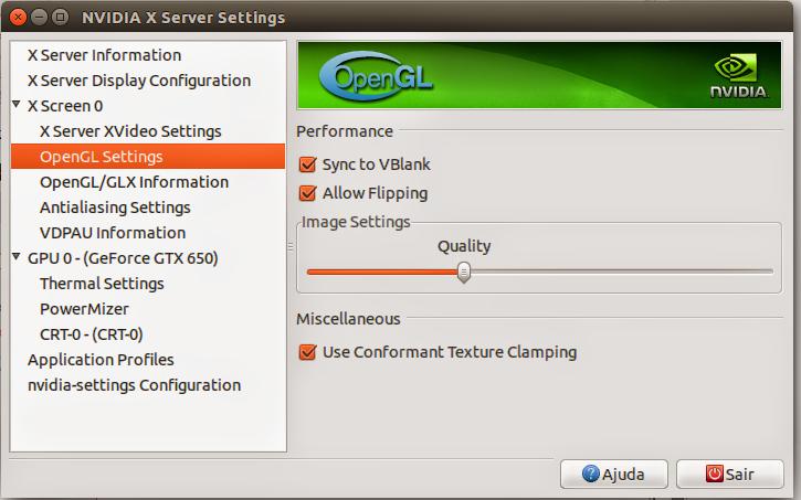 Configuração Nvidia no Ubuntu