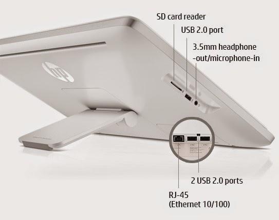 фото расположения портов моноблока HP Slate 21 Pro