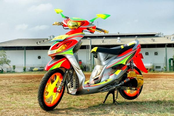 contoh modifikasi airbrush mio sporty