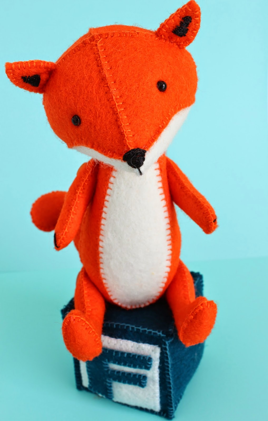 fox toy, felt fox