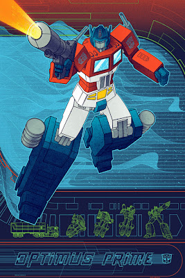 Optimus Prime Transformers Timed Edition Screen Print by Kevin Tong