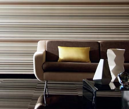 Amplitud con rayas horizontales decorar paredes - Paredes rayas horizontales ...