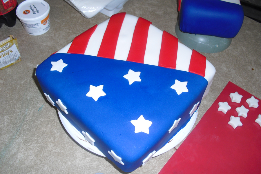 Candy-Topped Flag Cake Recipe — Dishmaps