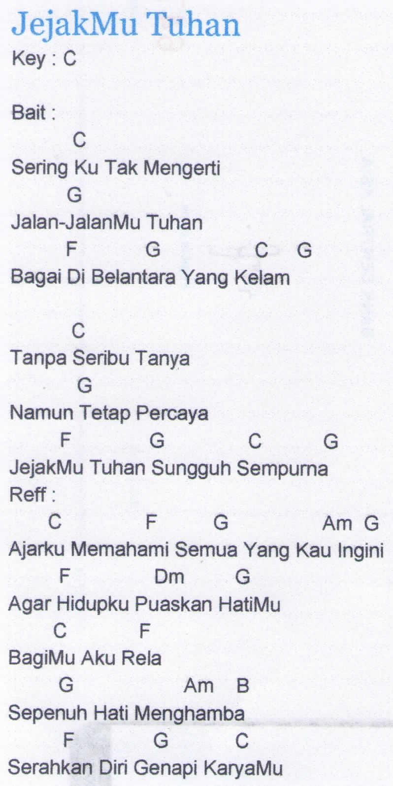 Chord Lagu Rohani