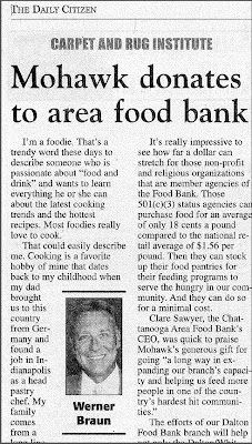 CRI Member, Mohawk, Supports Dalton Food Bank