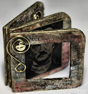 Edgar Allan Poe Recycled Altered Board Book by Chris Stern CS Designs