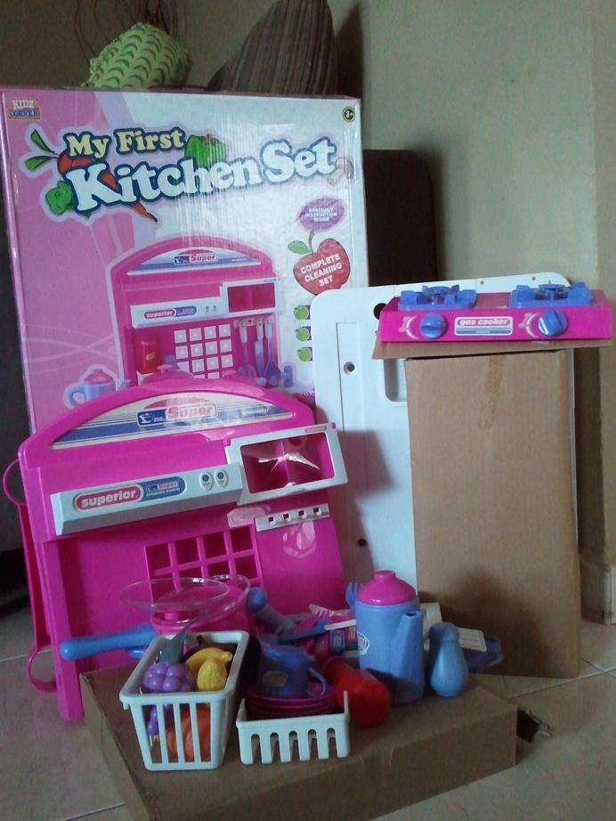 Ibu dan anak hasfaz my first kitchen set brand new for Kitchen set anak