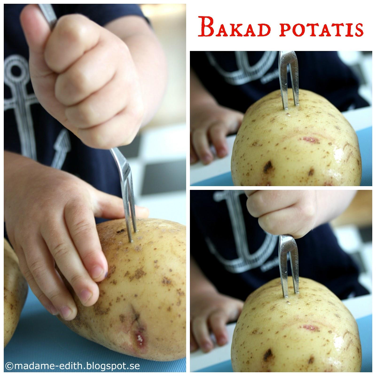 hur gör man bakpotatis