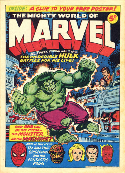 Mighty World of Marvel #7, Jim Starlin cover