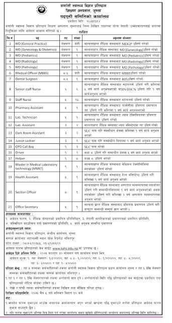 Multiple jobs opening at Karnali health Jumla