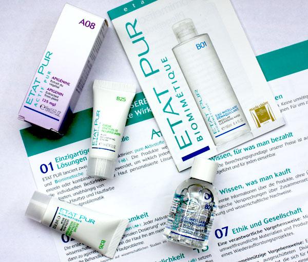 etat pur skincare samples micellar apigenin