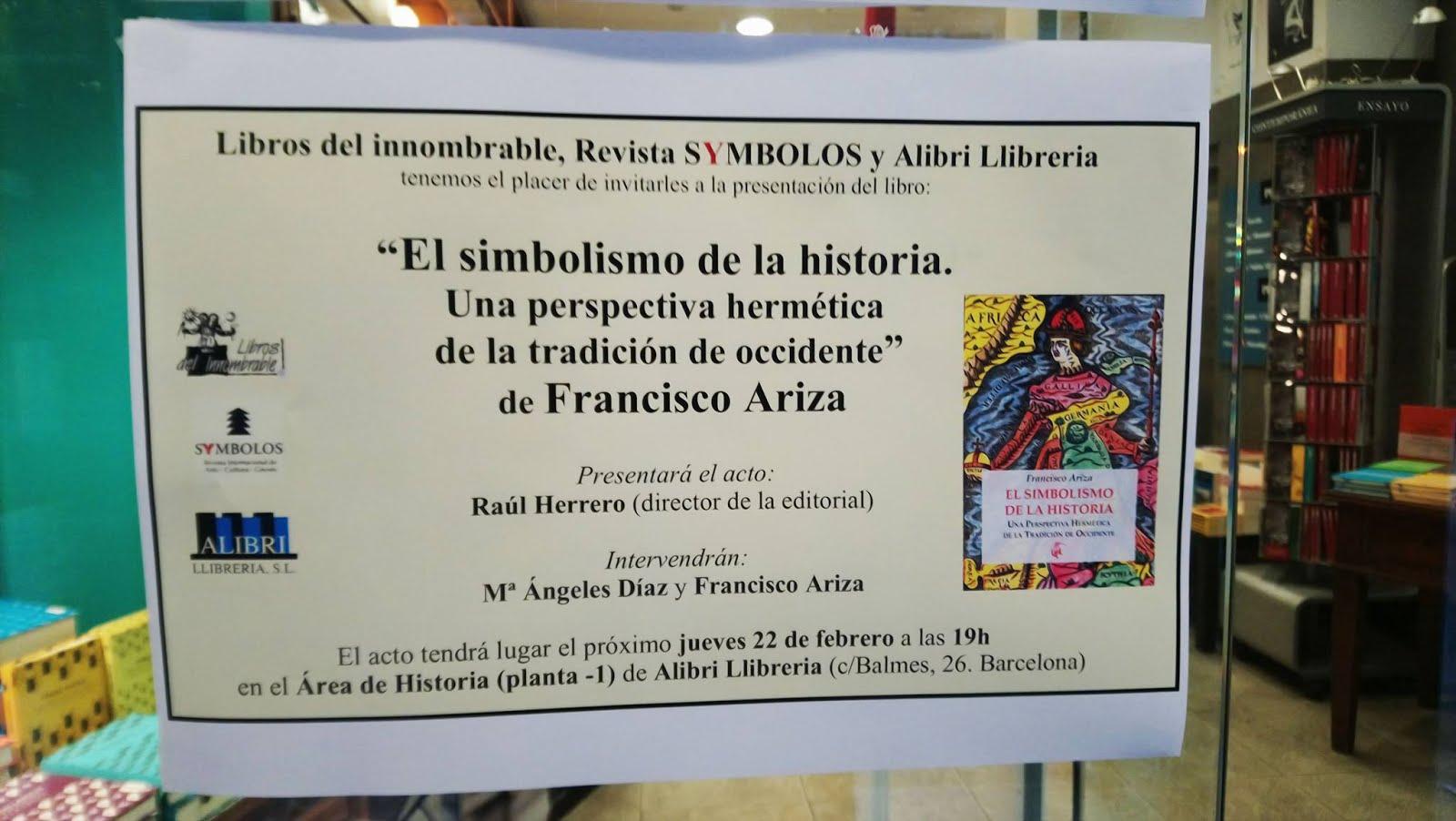"""Simbolismo de la Historia"". Libro de Francisco Ariza"