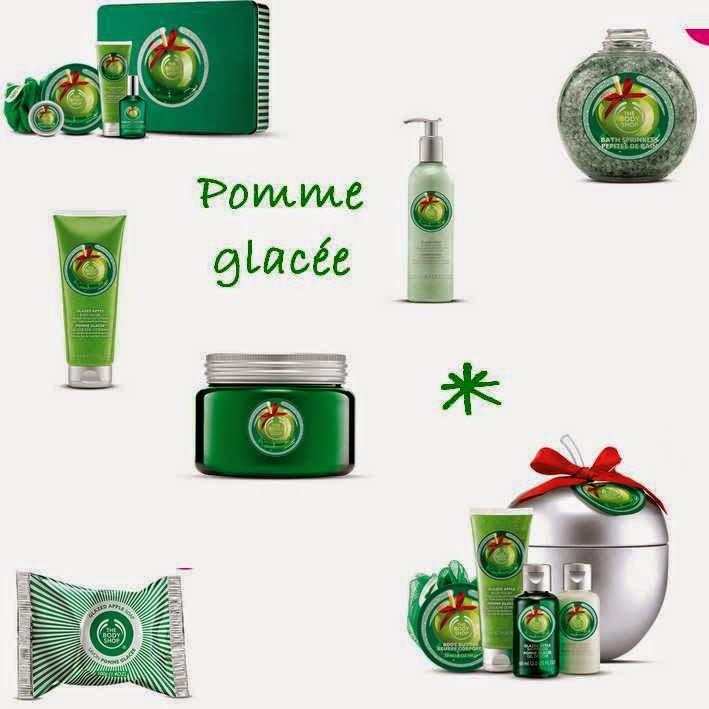 the body shop, edition noel, pomme givrée, gel douche, brume, sel de bain, gelée de douche, savon, coffret,