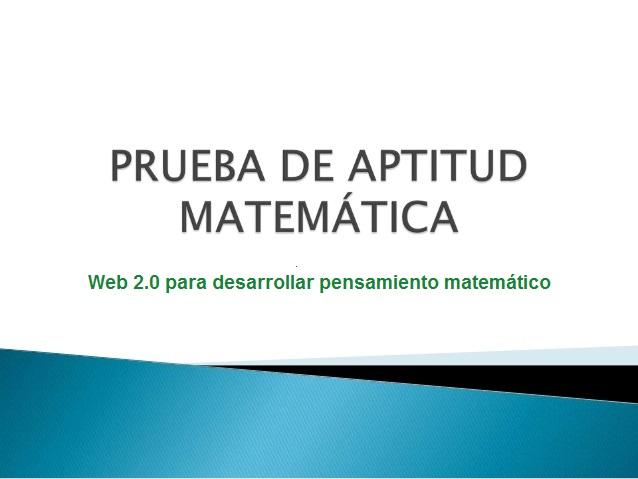 CUESTIONARIO APTITUD MATEMÁTICA