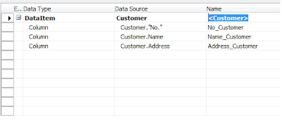 Selected columns in report designer