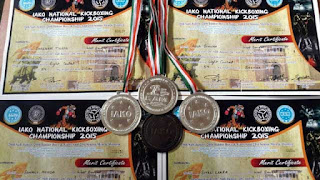 Rainbow High School, Panighatta bags medals in IAKO National Kick Boxing Championship