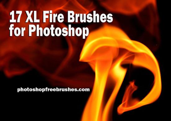скачать кисти для фотошопа огонь: