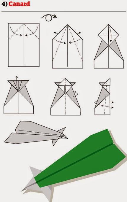 Canard paper plane folding guide