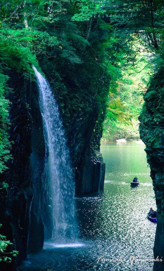 Refreshing river gorge in Japan