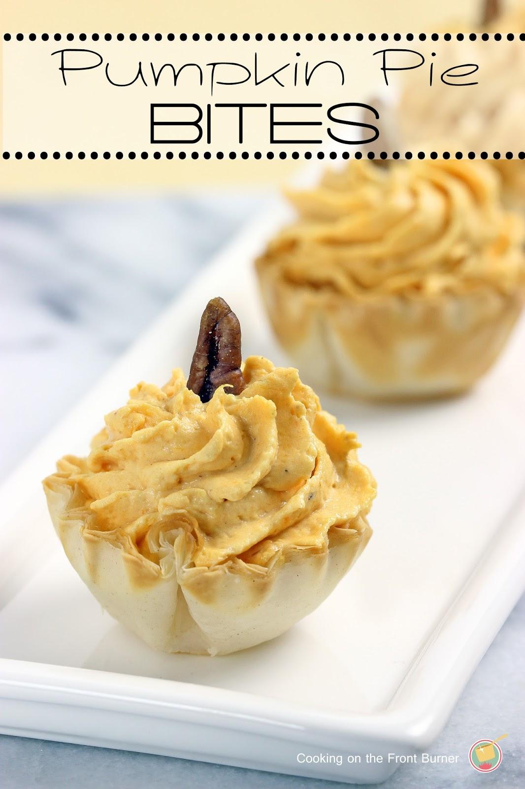 No-Bake Pumpkin Pie Bites | Cooking on the Front Burner