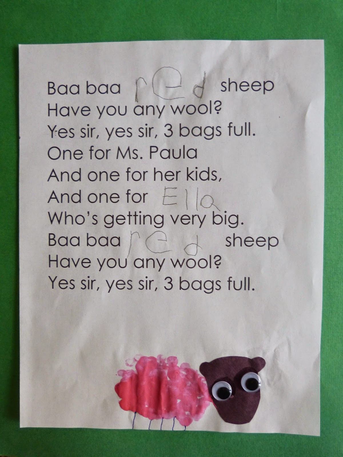 It Amazes Me How Different Each Sheep Is When We Make This, And The  Children Love Reading The Books They Helped To Make