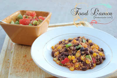 Black Bean Quinoa Fiesta & {Homemade} Guacamole Salsa