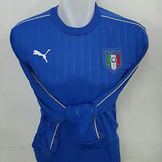 gambar desain terbaru euro 2016 jersey Lengan panjang Italia home Puma terbaru Euro 2016 di enkosa sport