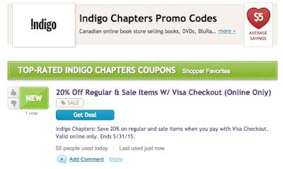 RetaileMeNot.ca Indigo Visa Checkout #RMNchallenge