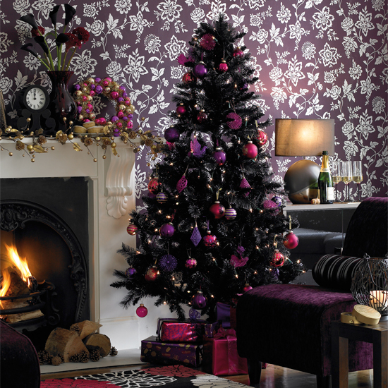 The bold and the beautiful non traditional holiday color for Non traditional christmas tree ideas