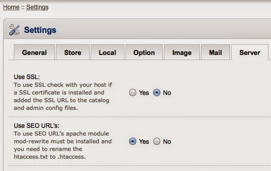 mengatasi masalah SEO URL opencart