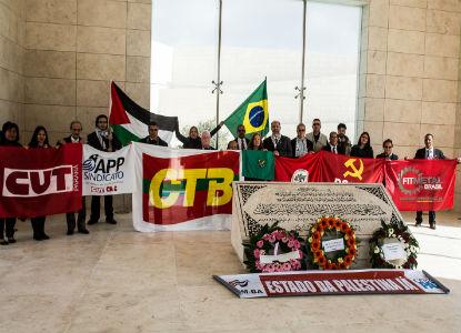 Mausoléu de Yasser Arafat, homenagem da Delegação Brasileira