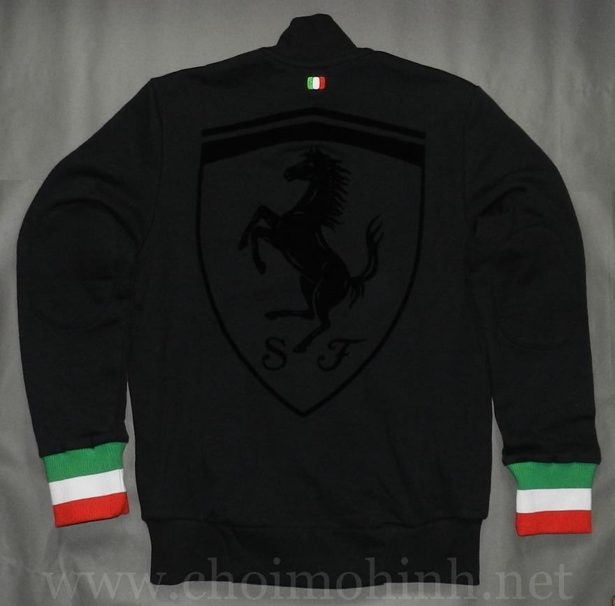Áo khoác Ferrari Puma lifestyle BLACK back