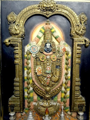 The deity of Shree Venkateswara Tirupati Balaji in Tirumala