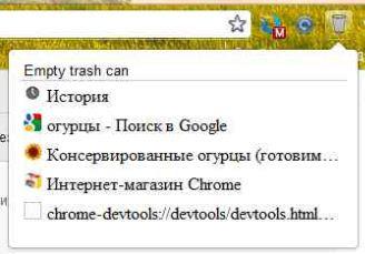 Восстановление закрытых вкладок Google Chrome