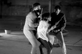 Thomas O'Connell, Anita-Joy Uwajeh and Simon Kent in Bow Down by The Opera Group, photo - Simon Jay Price