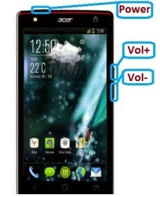 remove pattern lock on acer liquid e3