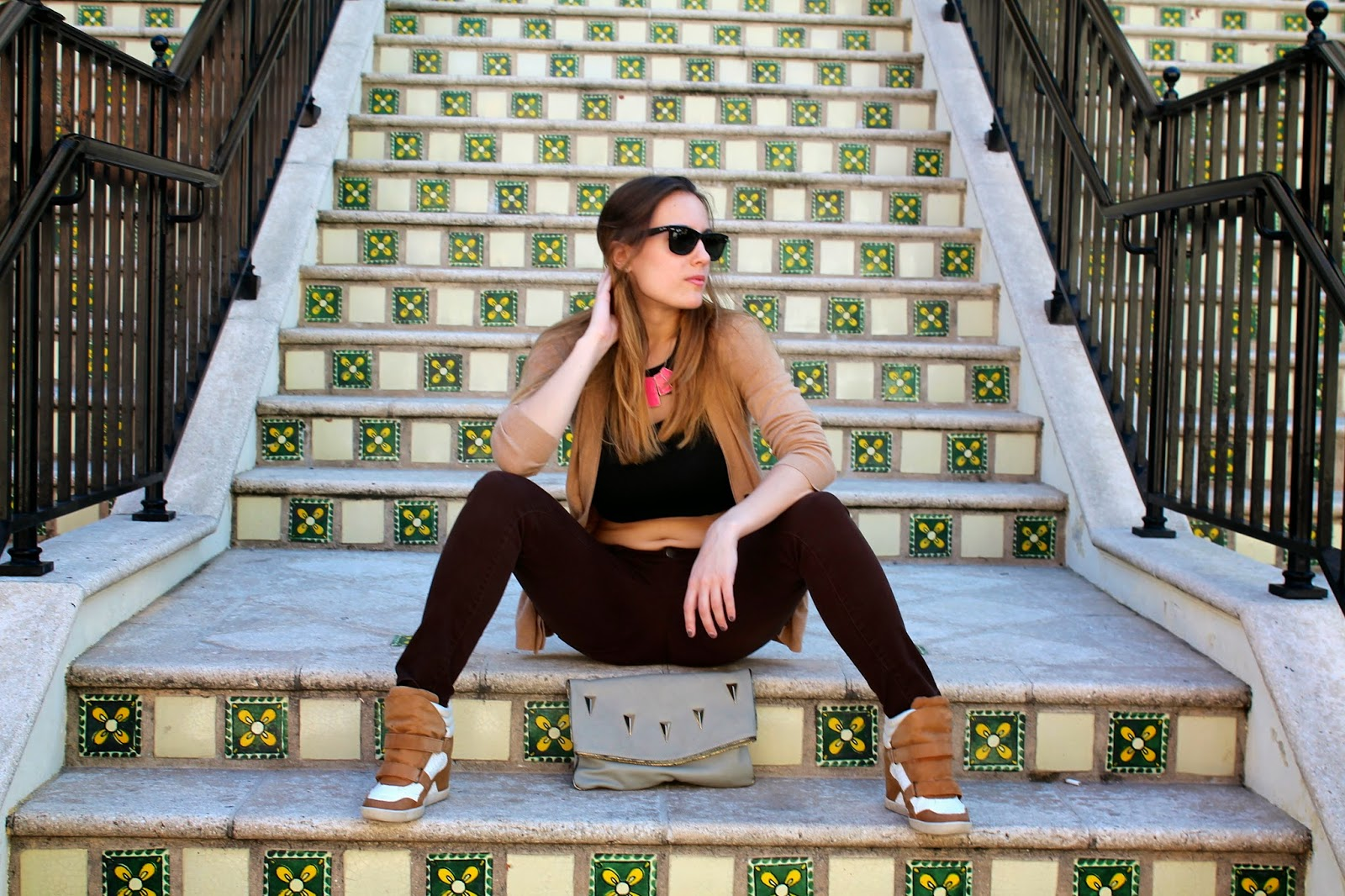 edgy, prep, Miami, fashion, style, sneaker wedges, crop top, LF Stores, LOFT, Forever 21, Nordstrom