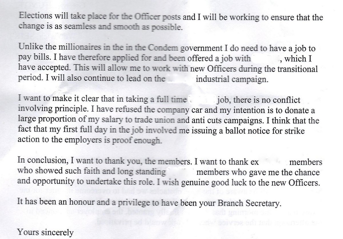 john s labour blog  this letter see scans left double click to bring up detail was recently sent to all members of a trade union branch